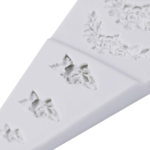 Rose Flower Garland Silicone Mold Cake Border Jewelry Wedding Decorating TooFT