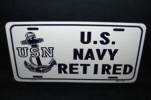 Retired With Hammock Vanity Metal Novelty License Plate
