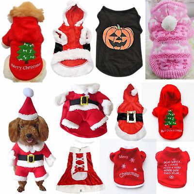Navidad Mascota Ropa Perro Santa Suéter Camiseta Gato Cachorro Jersey