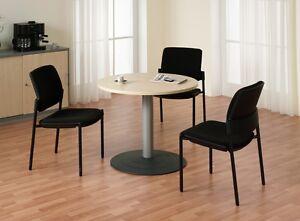 konferenztisch rund mit s ulenfu besprechungstisch tisch 90 cm b rom bel ebay. Black Bedroom Furniture Sets. Home Design Ideas