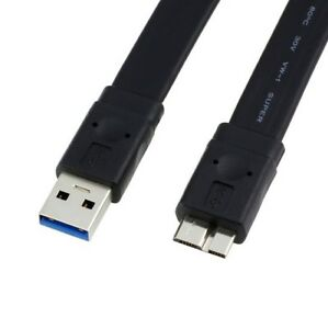 1M-Flat-USB-3-0-A-to-Micro-B-Data-Charger-Cable-for-Phones-Cameras-Hard-Drives
