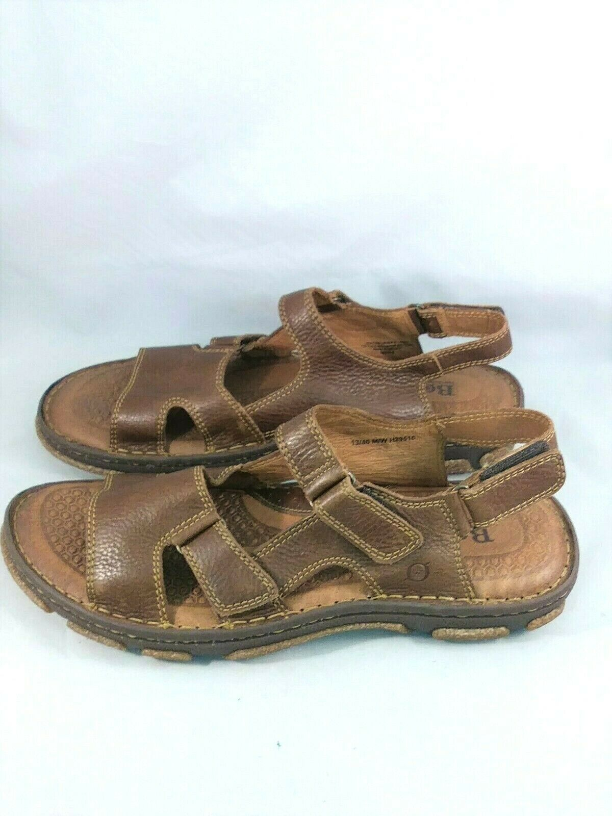 BORN Segar H29516 Walnut Brown Leather Sandals Men's Size 13 46 M W