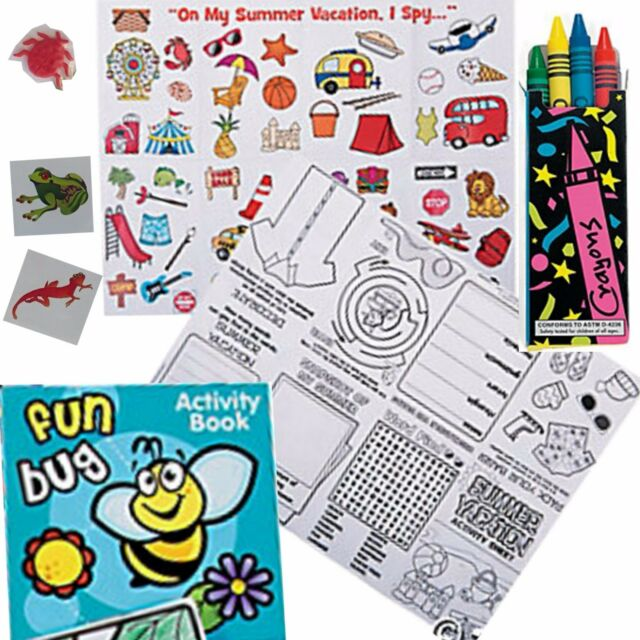Easter Holidays Kids Bug Toys Coloring Activity Book pad Crayons games