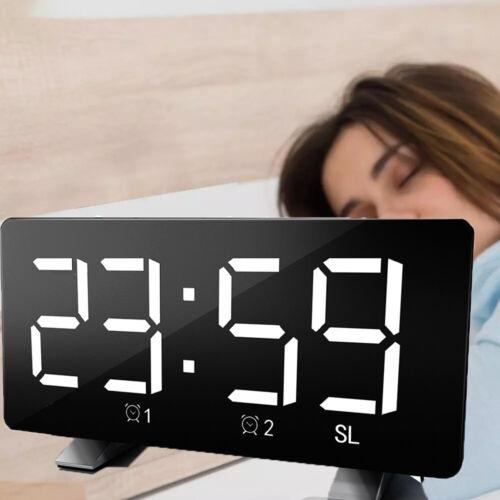 Radiowecker Uhrenradio Großes Display mit 2 Weckzeiten Digitaler Sleep Timer