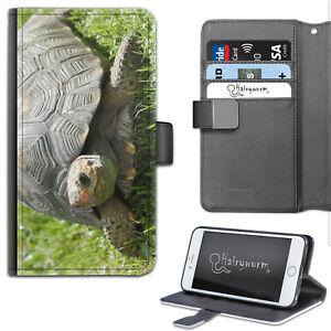 Tortuga-funda-de-telefono-Cuero-Billetera-Abatible-Estuche-Cubierta-Para-Samsung-Apple-Sony