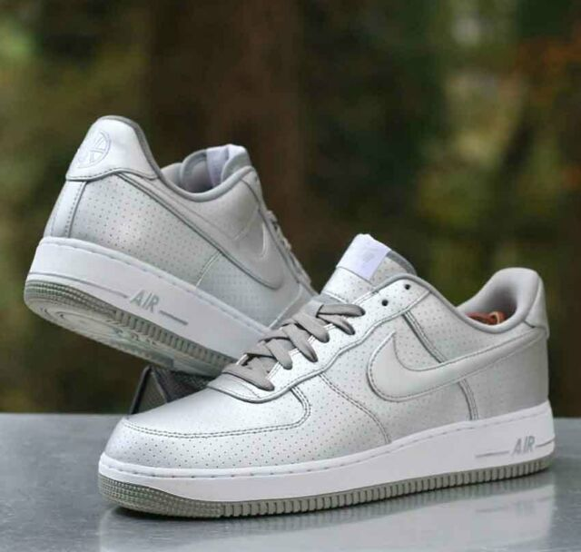 Nike Air Force 1 07 LV8 Low Men's Size 10.5 Metallic Silver White 718152 013 884497883298 | eBay