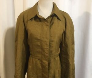 Trenchcoat Liner Women's Charles Klein 12 Vintage Overcoat Removable Gold Ull EfSaxxq