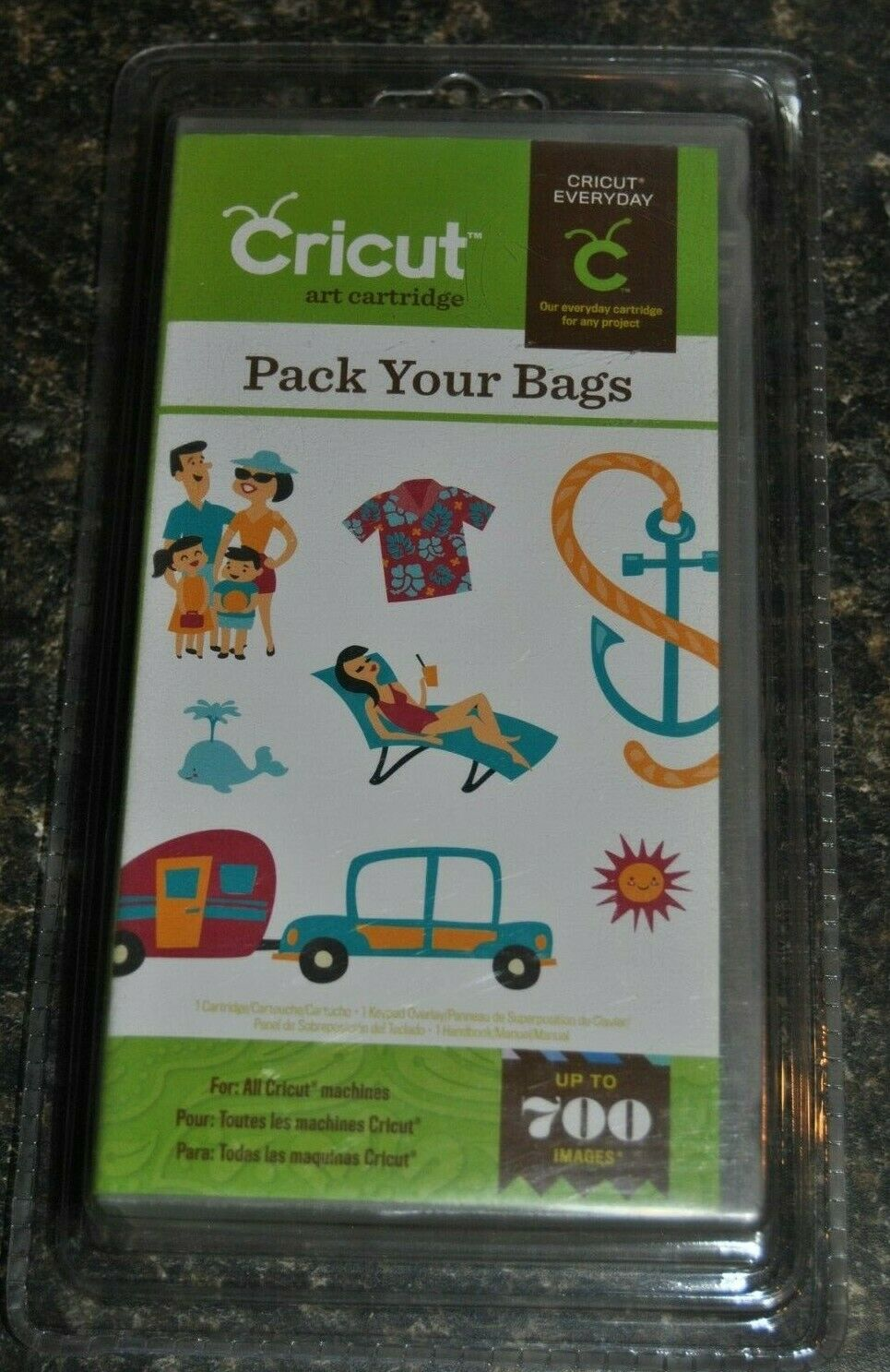 Cricut Cartridge PACK YOUR BAGS Brand New