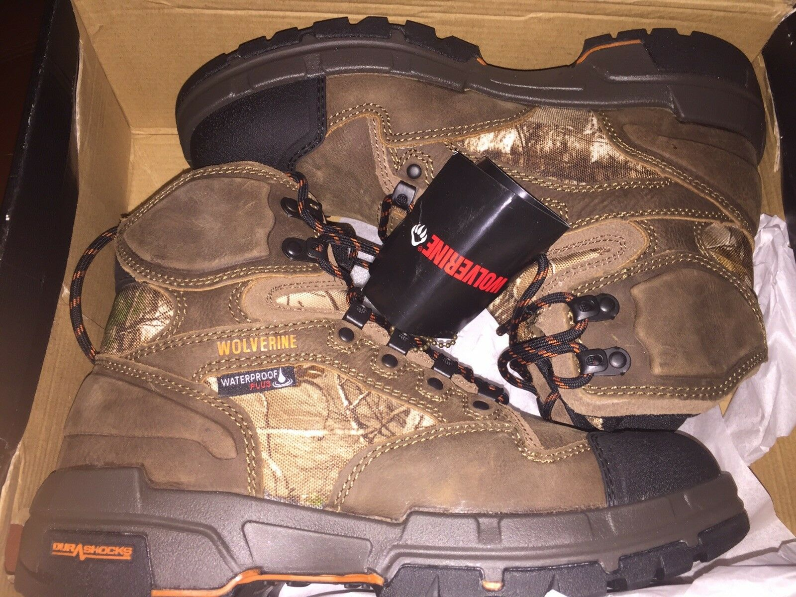New Mens Wolverine Claw 6  REALTREE Waterproof 400G Hunting Hiking Boot 8.5  160