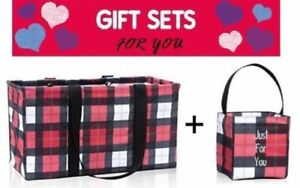 d99a24ce11a2 Details about GIFT SET Thirty One LARGE UTILITY tote little carry all caddy  31 check mate bag
