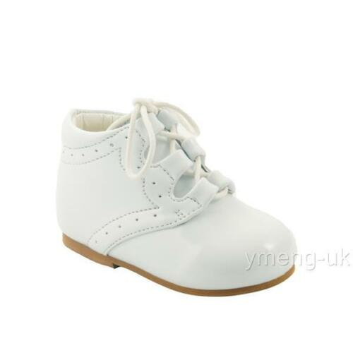 *SALE* Boys Hard Sole Boots Toddler Boots//Classic Spanish Style White Black 1-6