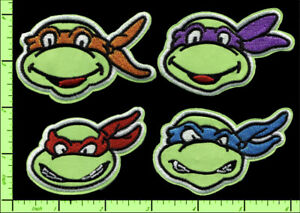 Teenage-Mutant-Ninja-Turtles-Embroidered-Applique-Iron-on-or-Sew-on-Patches-TMNT