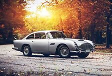Aston Martin DB5 - 30x20 Inch Canvas - Framed Picture Poster Print