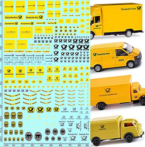 Deutsche Post Reichspost Sponsoren Bogen No.2 LKW Trucks 1:87 Decal Abziehbilder