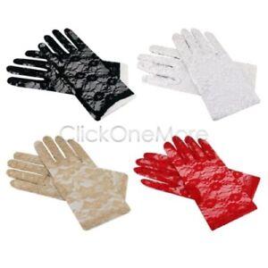 Fabulous Elegant Lady Short and Long Stretch Lace Gloves Wedding Gloves
