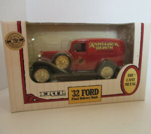Ertl-Bank-1-25-Ford-Panel-1932-Delivery-Truck-Anheuser-Busch-Die-Cast-Metal-Coin