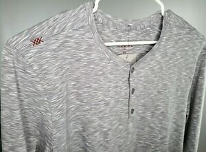 NEW-Rhone-Mens-Element-Gray-Space-Dye-L-S-Pima-Cotton-Henley-Shirt-XL-2XL-Soft