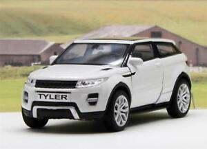 PERSONALISED-PLATES-White-Land-Rover-EVOQUE-Boys-Toy-Model-DAD-Car-Present-Boxed