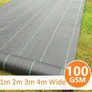 Heavy Duty Weed Control Fabric Garden Ground Lawn Landscape Decking Membrane
