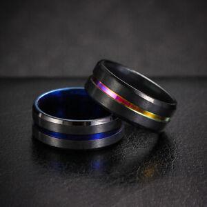 Bague-en-acier-titane-pour-hommes-et-femmes-Bague-de-fiancailles-Mariage-cool