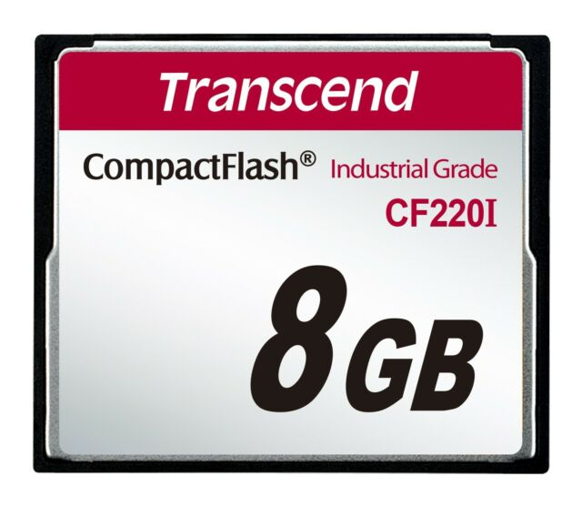 Transcend -8Go Carte mémoire CF Industrielle Ultra Compact Flash SLC CF220I 220X