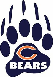 CHICAGO BEARS Paw Decal Window Wall Vinyl Car Cornhole STICKER - Window stickers for cars chicago