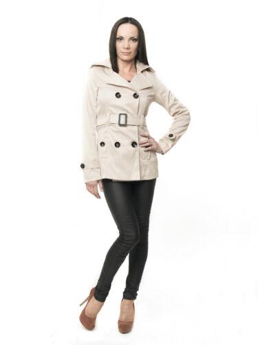 Damen Designer Trenchcoat Mantel Übergangsjacke Damenjacke Sommer Kurz S,M,L,XL