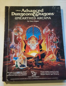 Tsr Ad & d Unearthed Arcana 2017 Donjons Et Dragons Gary Gygax Hb Rpg '85
