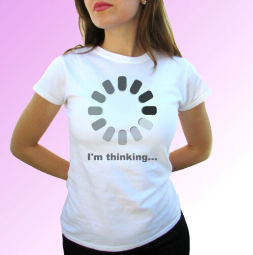 Im Thinking white t shirt funny tee joke party birthday top xmas art design