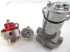 High Flow Performance Electric Fuel Pump 140 GPH W/ Billet Regulator & LF Gauge