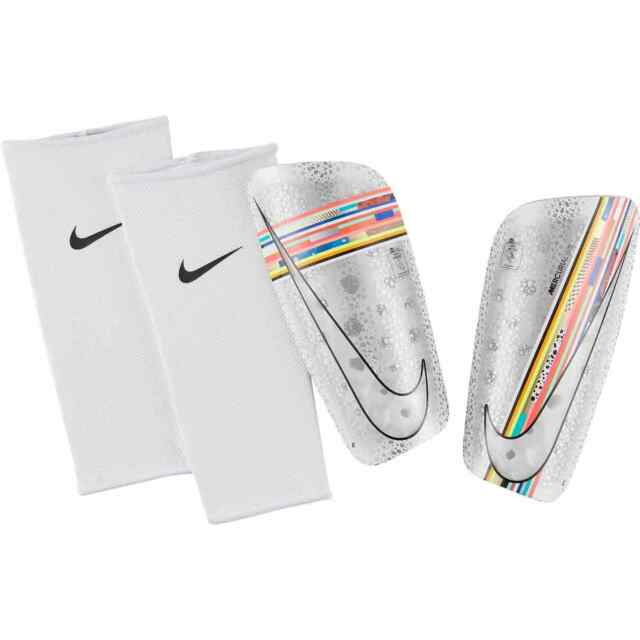 wholesale outlet authentic quality buy good Nike Mercurial Lite 2018 - 2019 Shin Guard Slip Shield New LVL UP Platinum  Multi