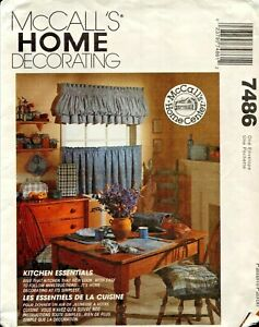 McCall-039-s-Home-Decorating-7486-Kitchen-Essentials-Uncut-Sewing-Pattern