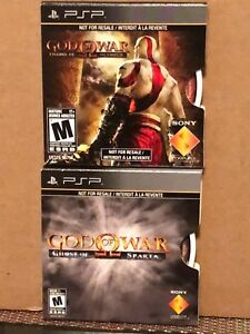 Details about Two Sony PSP - God of War: Ghost of Sparta / God of War:  Chains of Olympus, NEW!