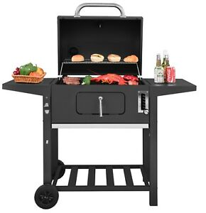 Royal Gourmet 24'' BBQ Charcoal Grill Backyard BBQ Cooking Side Table CD1824A