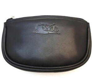 Mr. Brog Soft Leather Tobacco ZipperPouch - Authentic Full Grade Leather - Black