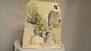 Marie-Walker-Last-line-and-water-colour-Drawings-1940-039-s