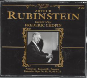 Dettagli su Cofanetto 2 CD Arthur Rubinstein Performer Frédéric Chopin CO118