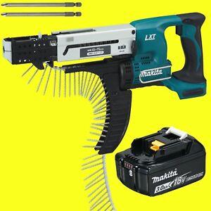 Makita-Batterie-Magazinschrauber-DFR750ZF-avec-1x-Piles-3-0-Ah-18-Volt-DFR750