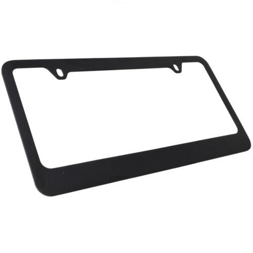 New 2pc Set Blank Plain Black Metal Car Truck Universal Fit License Plate Frame