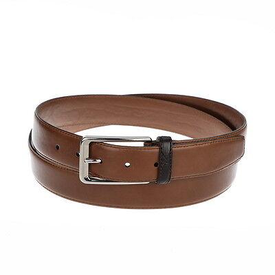 NWOT BRIONI Calfskin Leather Handmade Brown Belt XXL / 46 / 120