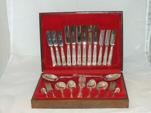 Osborne-Silver-Plated-44-Piece-Cutlery-Set-EPNS-A1-Silversmith-SHEFFIELD-ENGLAND