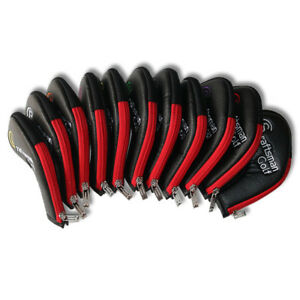 11pcs-PU-Leather-Golf-Club-Iron-Head-Covers-for-Ping-Callaway-Taylormade-Zipper