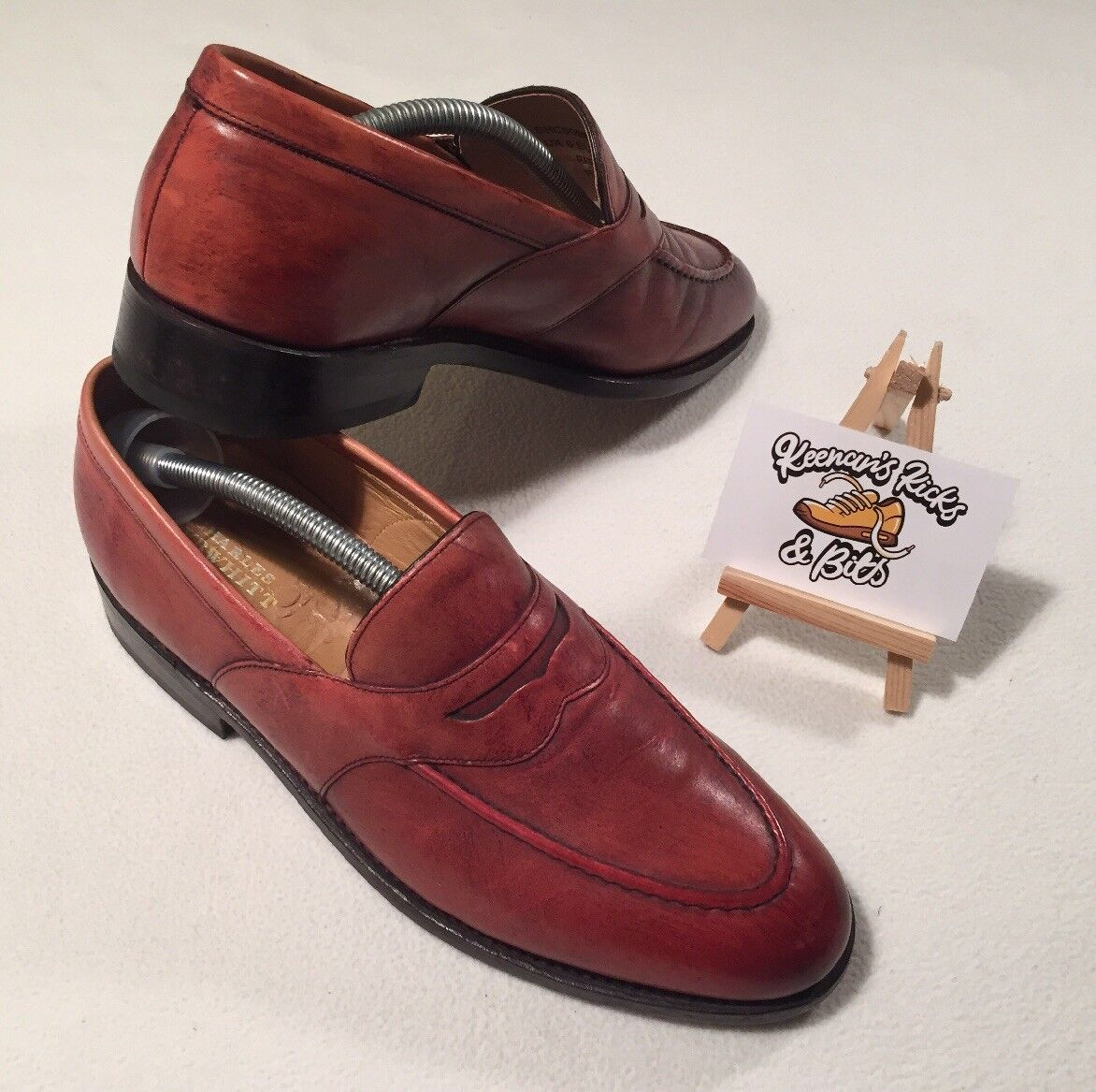 Charles Tyrwhitt Brown Tan Allet Slip on loafers UK 6 Fit F 'ESSEX CITY WEDDING'