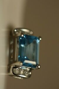 DESIGNER-14K-WHITE-GOLD-4-26CT-EMERALD-BLUE-TOPAZ-DIAMOND-ART-DECO-EARRINGS