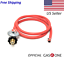 2103 Gas One 6ft Propane Regulator and Hose Clamp Style Kit for LP//LPG