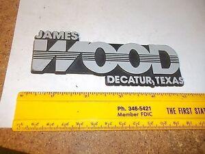 Old Car Dealer Emblem James Wood Decatur Texas Ebay