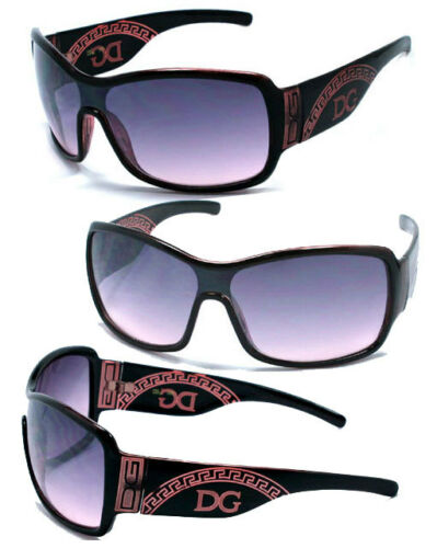 DG Women Oversized Vintage One Piece Shield Designer Sunglasses Burgundy DG112
