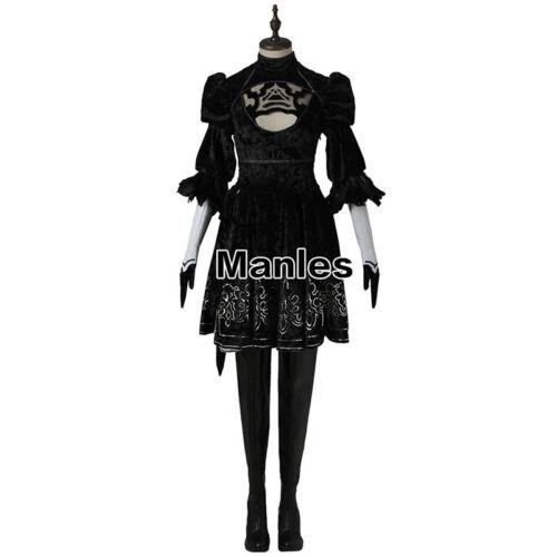 NieR:Automata 2B YoRHa No 2 Type B Heroine Dress Adventure Game Cosplay Costume