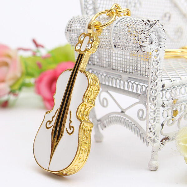32GB USB 2.0 Crystal Violin Model Flash Memory Stick Storage Thumb Pen Drive