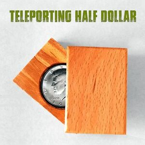 Magician-039-s-Teleporting-Half-Dollar-or-2-Rupee-Coin-Real-Illusion-Magic-Trick